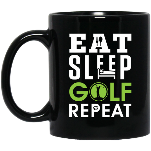 Eat Sleep Golf Repeat Mug