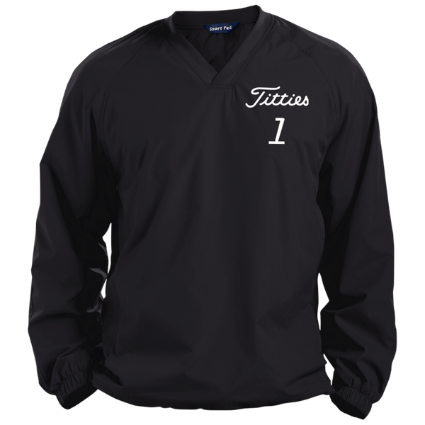 Titties Pullover V-Neck Windshirt