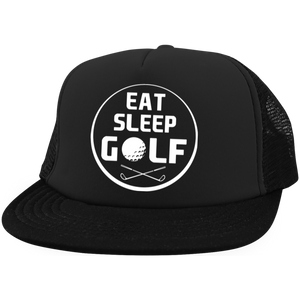 Eat Sleep Golf Trucker Hat with Snapback