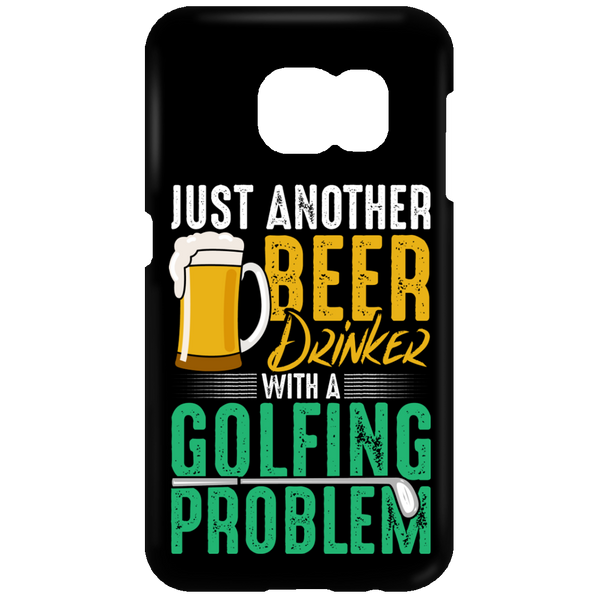 Beer Drinker Golfing Problem Phone Cases