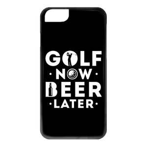 Golf Now Beer Later Phone Cases