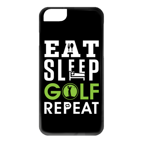Eat Sleep Golf Repeat Phone Cases