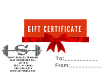 Swift Results Gift Certificates $50 - $500