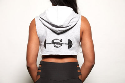 Powered UP Hoodie Workout Crop