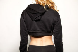 Unstoppable Sweatshirt Workout Crop - Swift Gear
