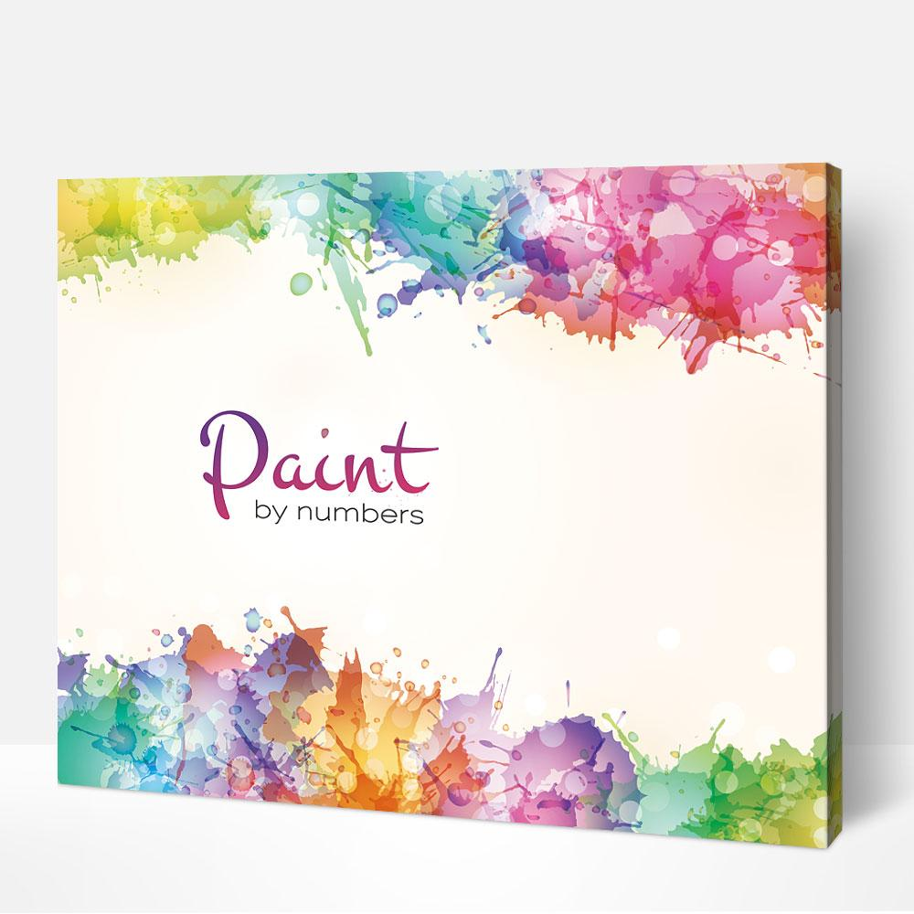 paint by number sets of brushes and colours