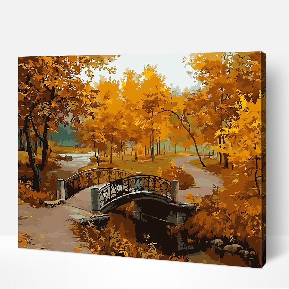 Autumn Bridge - Paint By Numbers Kit For Adult