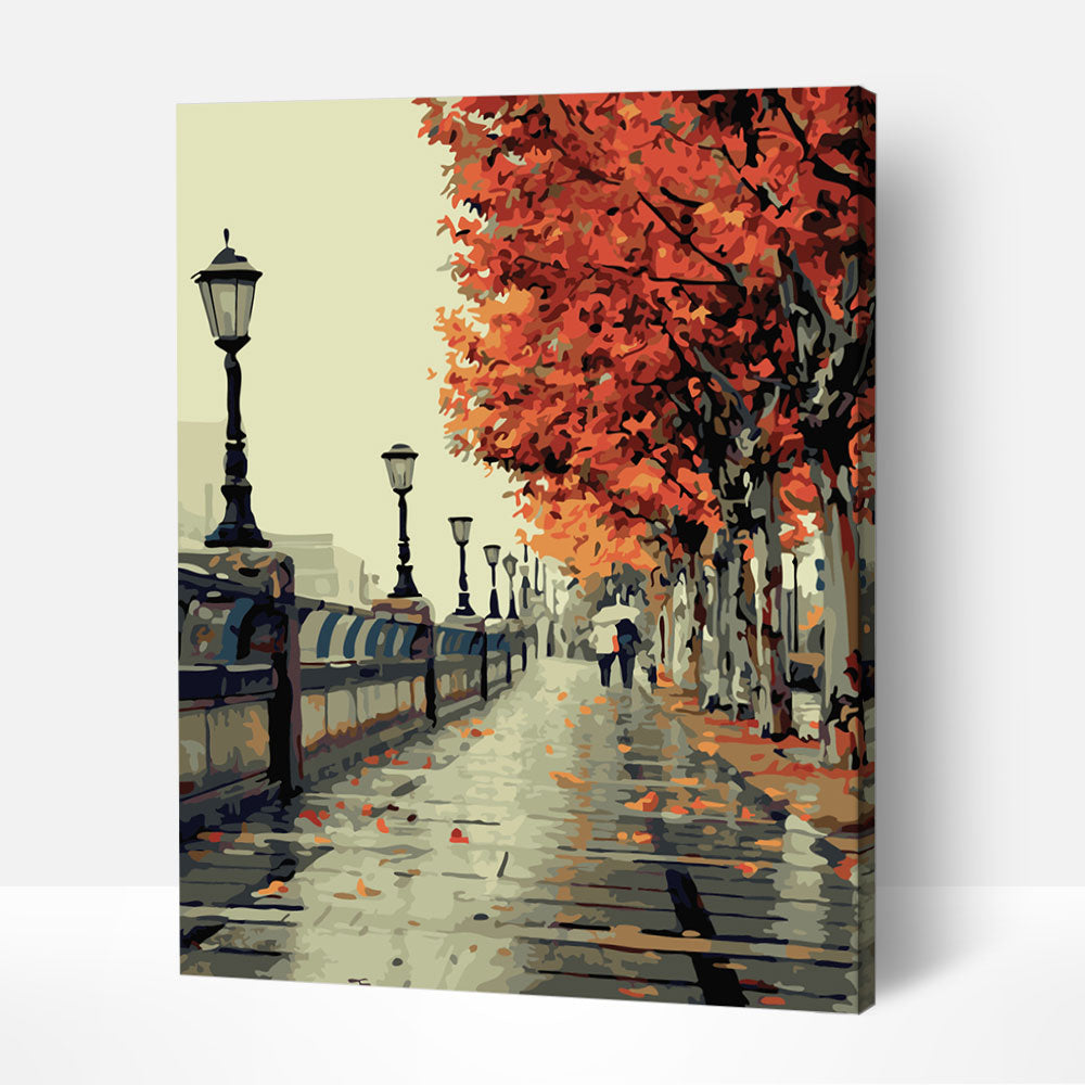 Autumn Rain - Paint By Numbers Kit For Adult