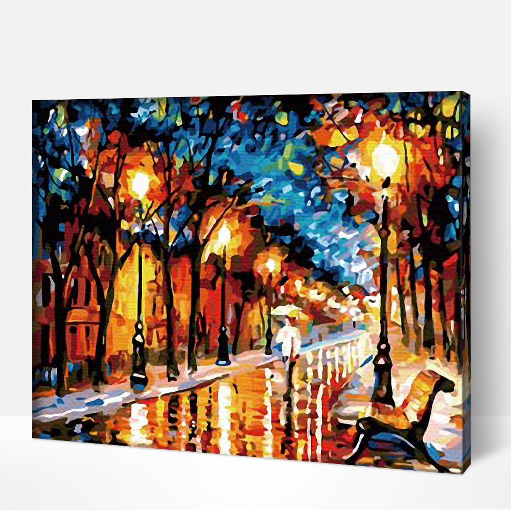 The Street Lights - Paint By Numbers Kit For Adult