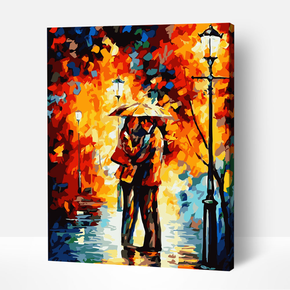 Lovers in the Rain - Paint By Numbers Kit For Adult