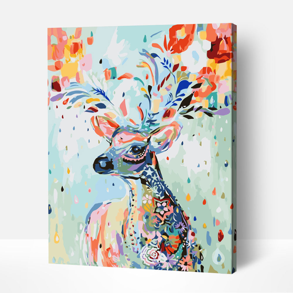 Pastel Deer - Paint By Numbers Kit For Adult