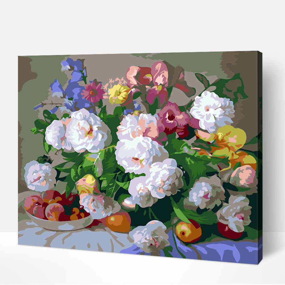 Flowers and Fruit - Paint By Numbers Kit For Adult