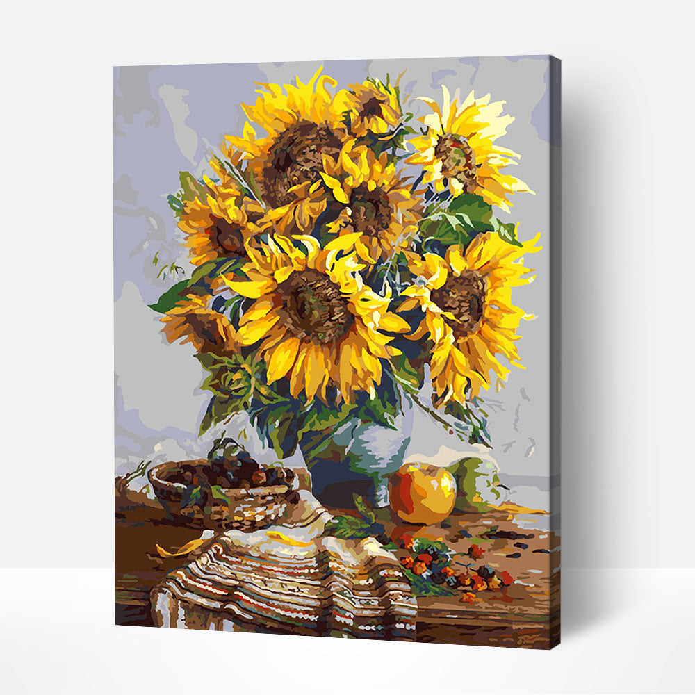 Sunflowers in a Vase - Paint By Numbers Kit For Adult