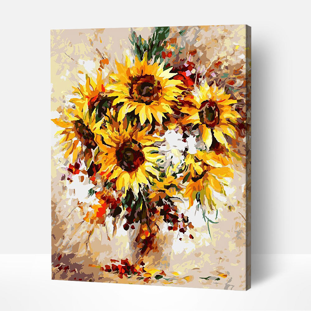 Sunflower Burst - Paint By Numbers Kit For Adult