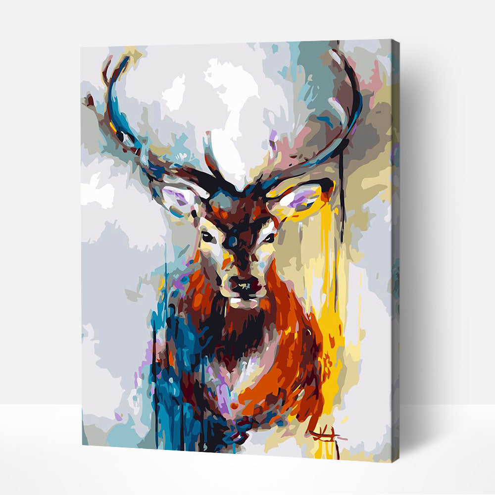 Noble Stag - Paint By Numbers Kit For Adult