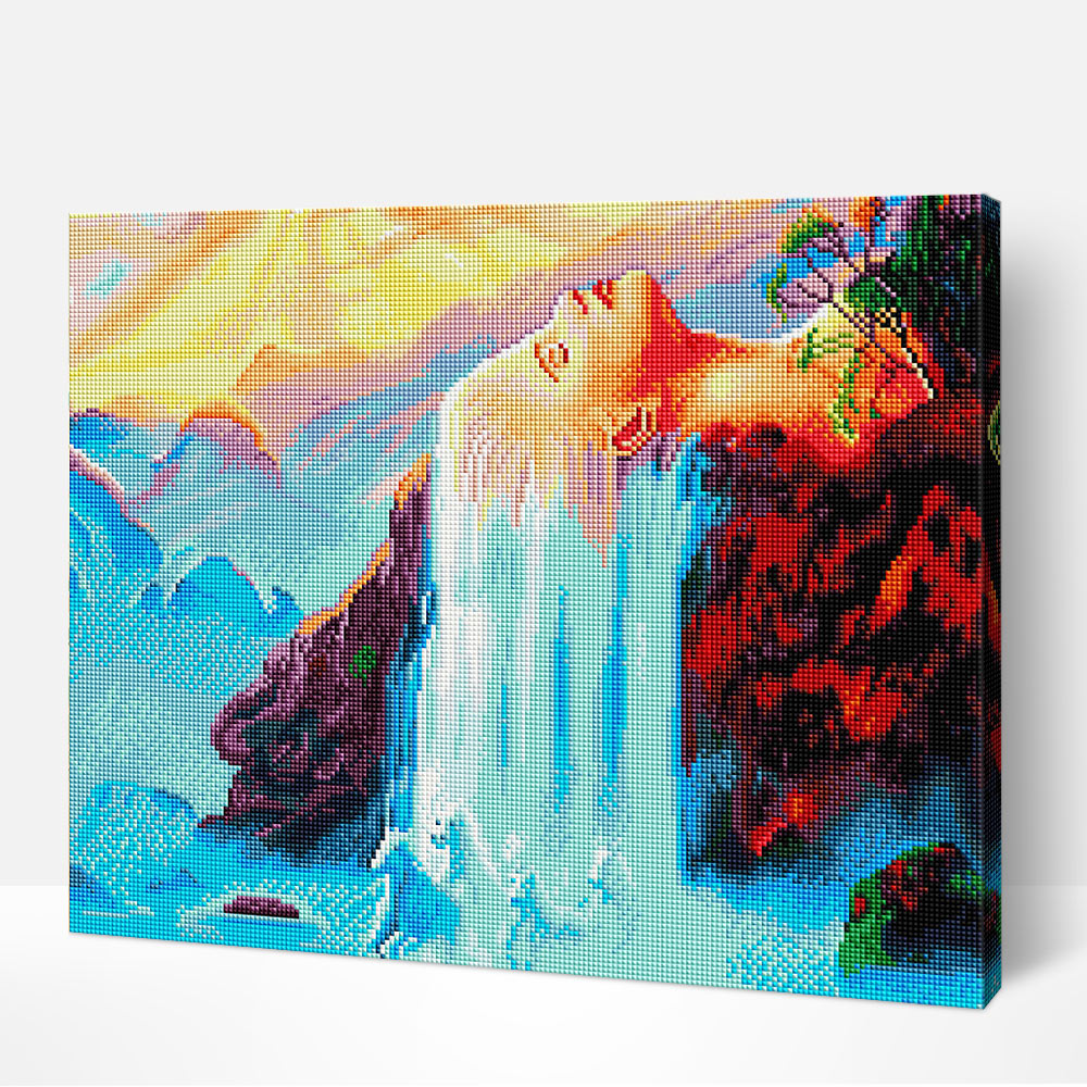 Abstract Woman Waterfall - Diamond Painting