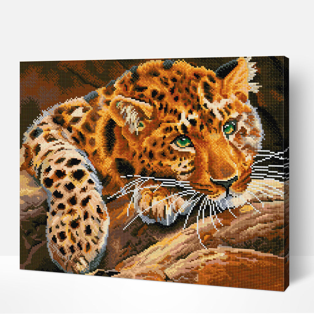 Elegant Leopard - Diamond Painting