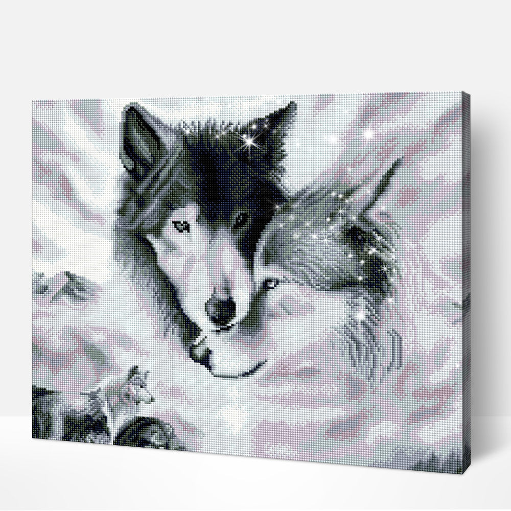 Wolf Love- Diamond Painting