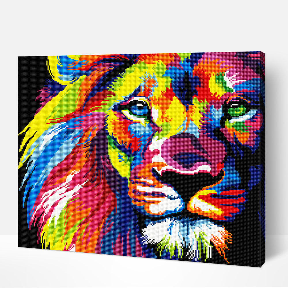 Colorful Lion - Diamond Painting