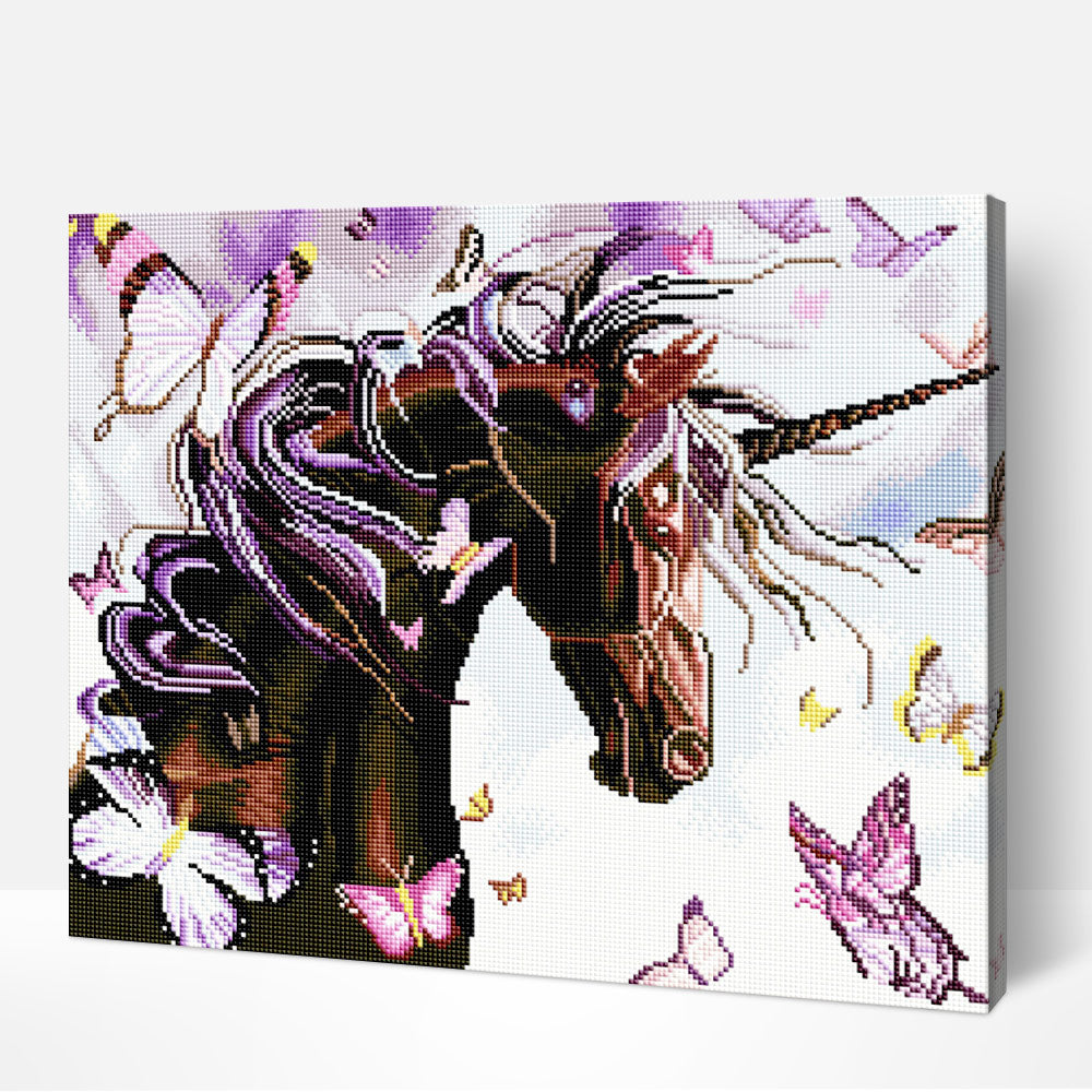 Unicorn - Diamond Painting