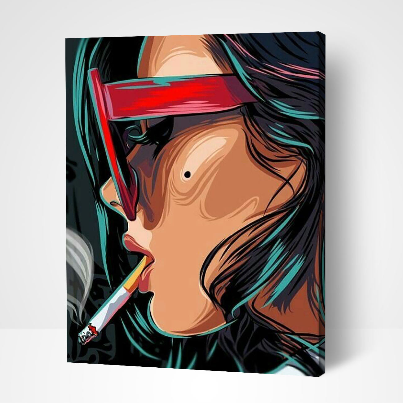 Smoking Woman Pop Art