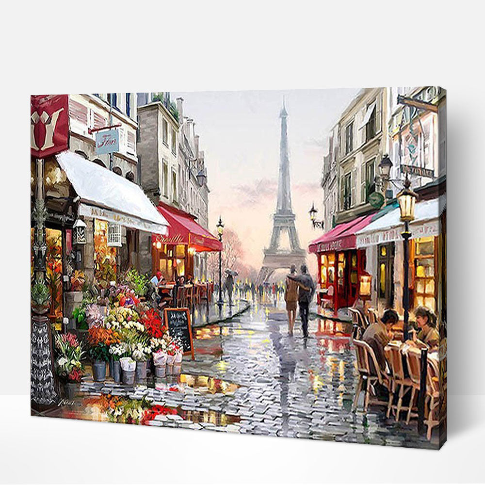 Rainy in Paris 2 - Paint By Numbers Kit For Adult