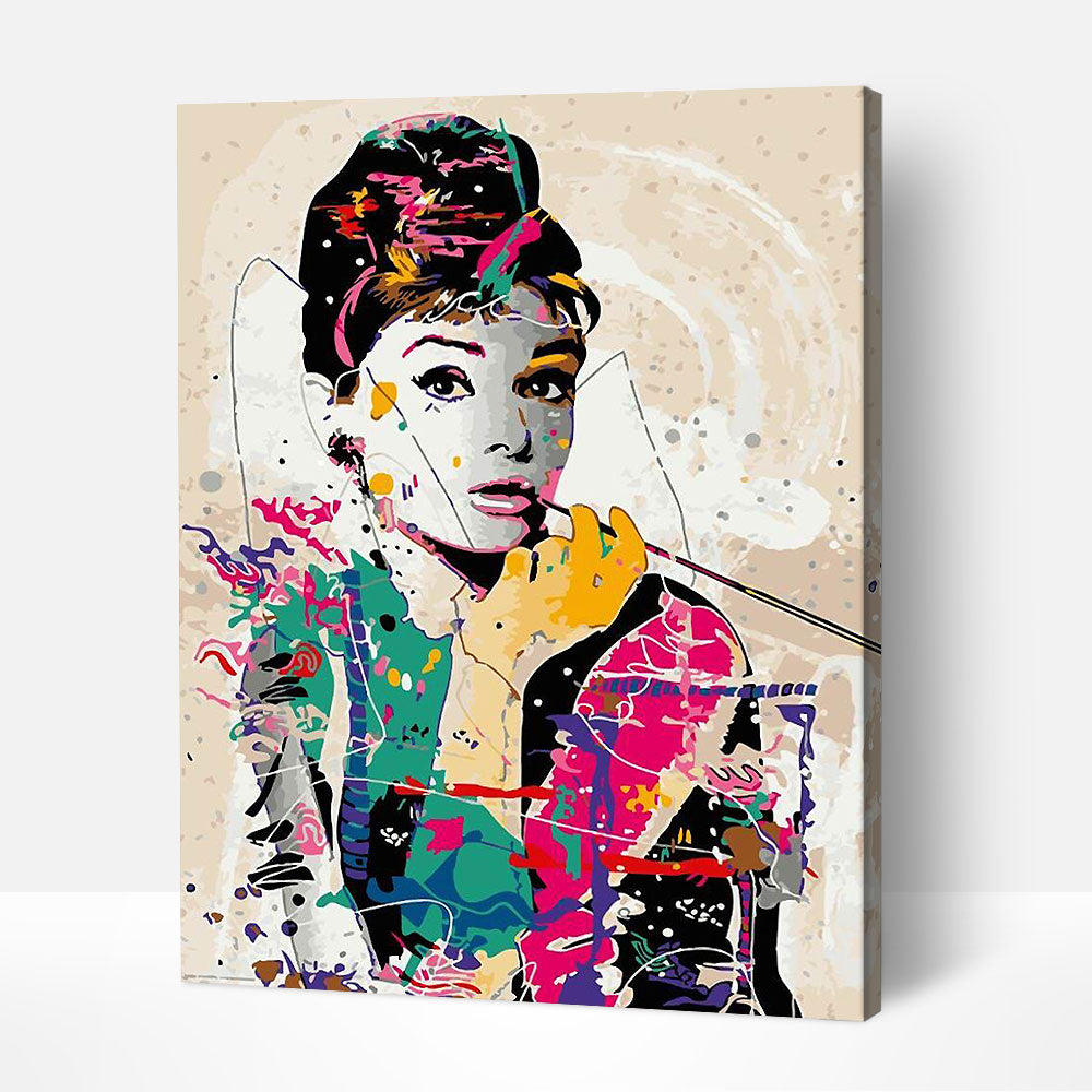 Audrey Hepburn - Paint By Numbers Kit For Adult