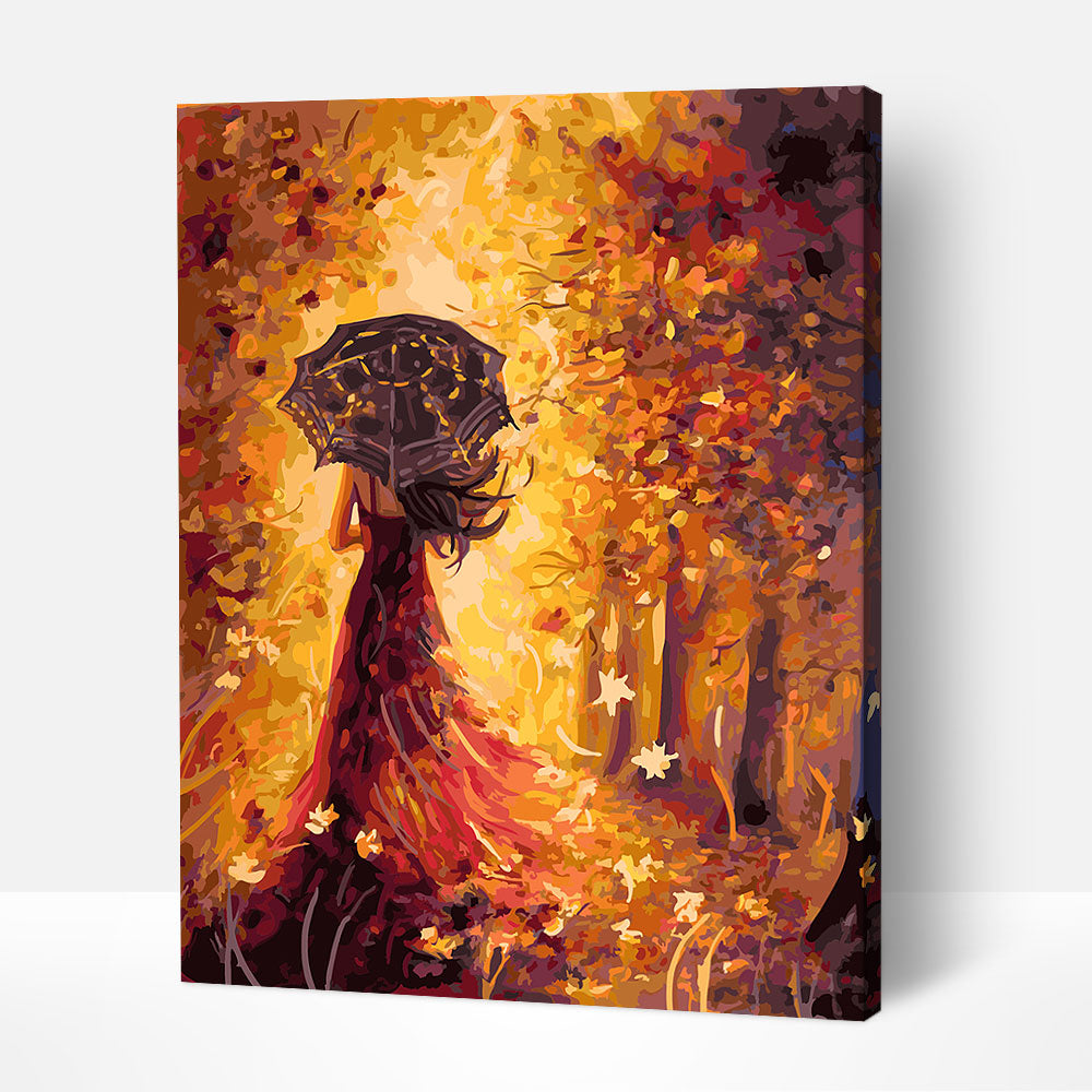 A Walk in Autumn - Paint By Numbers Kit For Adult