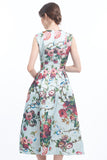 PREORDER: Rococo garden midi full skirt dress