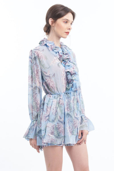 PREORDER: Romantique floral ruffled romper