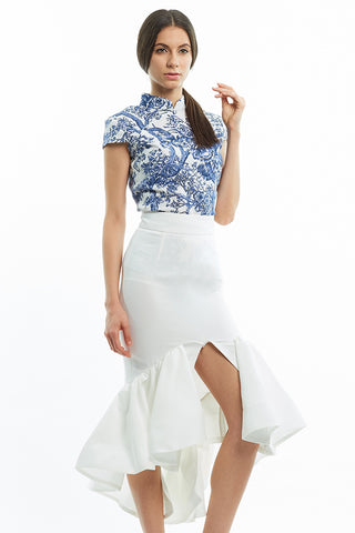 BACKORDER: Dramatic ruffled mermaid skirt