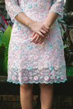 Pastel cotton candy embroidered organza qipao