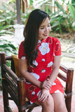 BACKORDER: Handpainted cherry blossom linen qipao