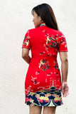 BACKORDER: Oriental Japanese handpainted qipao