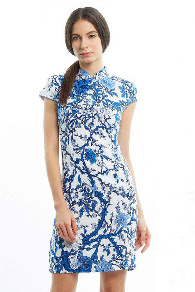 MOM & DAUGHTER: Oriental porcelain print qipao (BACKORDER)