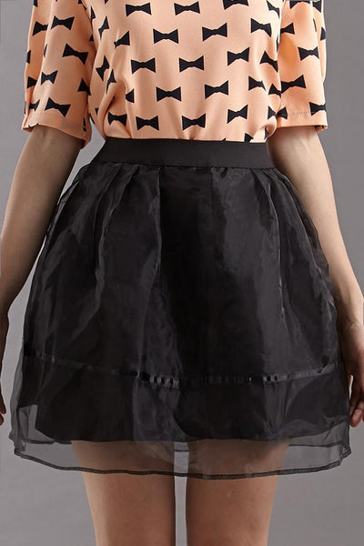 CLEARANCE: Organza full skirt (Black)