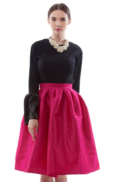 Persian rose midi full skirt