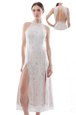 "BACKORDER: ""Lace get carried away"" backless maxi dress"