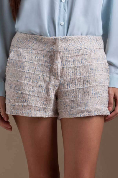 CLEARANCE: Metallic tweed shorts