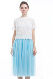 BACKORDER: Midi tulle skirt (Powder blue)