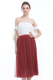 BACKORDER: Midi tulle skirt (Wine)