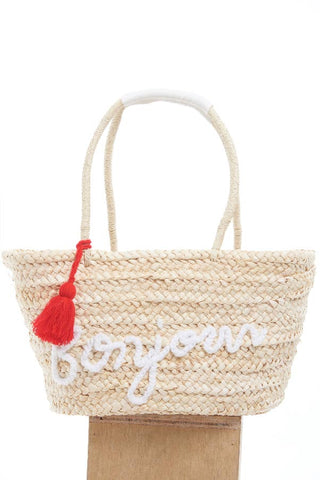 BACKORDER: Bonjour straw bag with tassel