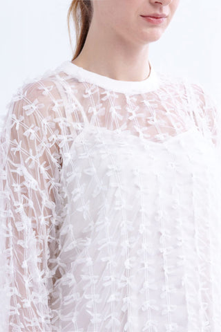 CLEARANCE: Miniature ribbon mesh sweater