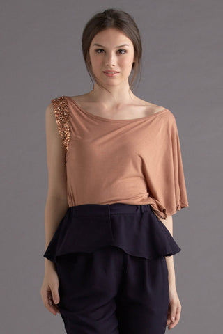 CLEARANCE: Sequined toga tee