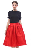 Ruby red midi full skirt