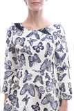 CLEARANCE: Porcelain butterfly print brocade dress