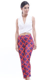 CLEARANCE: Damask print slim-cut pants