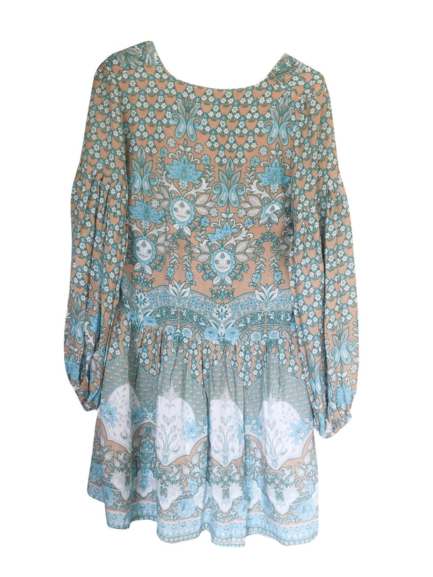 *PRE-ORDER* Lone Star Mini Dress - turquoise