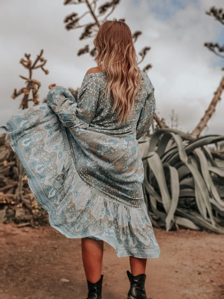 Lone Star Gown - turquoise