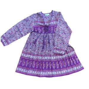 SUNDOWN MINI DRESS - purple